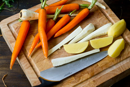 Roasted Potatoes, Parsnips and Carrots :: Home Cooking Adventure